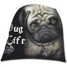 Spiral Direct PUG LIFE beanie hat biker/gothic/puppy/dog/cute/cotton/punk/slouch