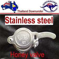 STAINLESS STEEL HONEY GATE VALVE,   EASY FIT   BEE KEEPING. APIARY EQUIPMENT