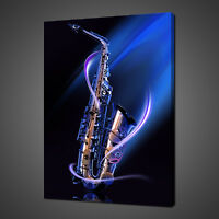 ABSTRACT SAXOPHONE MUSICAL CANVAS PRINT PICTURE WALL ART HOME DECOR FREE P&P