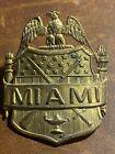 Original Vintage US Military Academy Brass Hat / Cap Badge - MIAMI