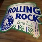 """ROLLING ROCK Tin Sign 20"""" X 20"""" hipster steam punk man cave she shed"""