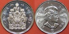 Brilliant Uncirculated 2012 Canada 50 Cents From Mint's Roll