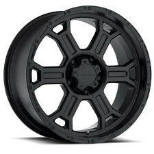 "4-NEW Vision 372 Raptor 16x8 6x139.7/6x5.5"" +0mm Matte Black Wheels Rims"