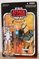 STAR WARS VINTAGE COLLECTION AOTC CLONE TROOPER LIEUTENANT VC109 UNPUNCHED Stock