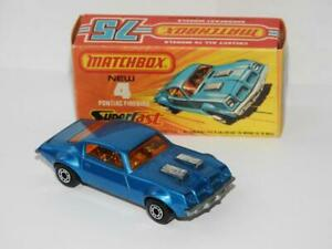 MATCHBOX LESNEY SUPERFAST No.4 PONTIAC FIREBIRD DARK BLUE MINT IN BOX 1978-80