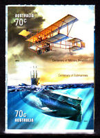 2014 Centenary of Military Aviation & Submarines - Booklet Pair