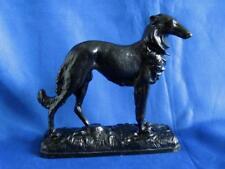 Dog Russian greyhound borzoi Antique USSR russian metal cast iron figurine 6981u