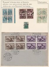 Russian Stamps used in Estonia etc. TEN PAGES.
