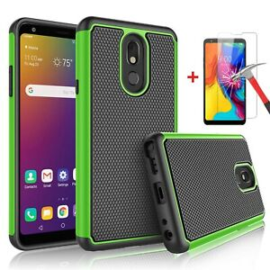 For LG Stylo 5/ 5x/ Stylo 4 Plus Phone Case Cover with Glass Screen Protector