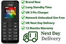 Brand New Nokia 105 BLACK (Unlocked) Dust Free Mobile Phone Cheap Basic Sim Free