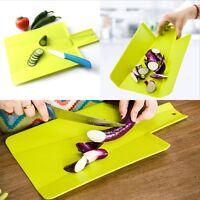 Folding Plastic Chopping Cutting Board Mat for Kitchen Camping Picnic PRO