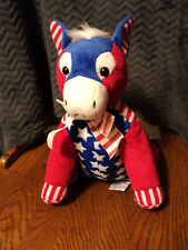 "Dakin Red White Blue Patriotic Democratic Donkey 11"""