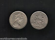 BERMUDA 50 CENTS KM19 1970-1978 LOT QUEEN ARMS CARIBBEAN MONEY COIN X 10 PCS
