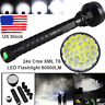60000LM 24x XML T6 LED Flashlight 5 Modes 26650/18650 Camping Torch Lamp Light