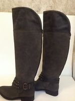 """STEVEN by Steve Madden Size 6m """"Smoken"""" TALL Over Knee RIDING BOOTS  New"""