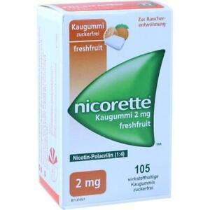 NICORETTE 2 mg freshfruit Kaugummi 105 St PZN 7274663