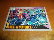 X-Men vs. Sentinels 106 1991 Marvel Universe Series 2 Impel Base Trading Card