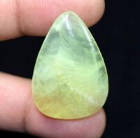 Peru Prehnite 100% Natural Cabochon 41.10 Cts. Pear Loose Gemstone