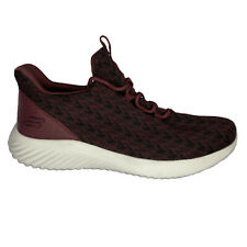 Skechers Shoes Men's Size 9 Red Burgundy Mesh Lace Up Factory Sample Nwob Walk