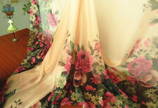 2 Yard 30D floral positioning print chiffon fabric fashion dress Material gauze