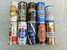 Lot of 10 Pull Tab Beer Cans - 15 1/2 oz size from the United Kingdom
