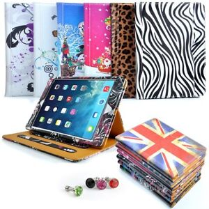 Floral Tan PU Leather Stand Case Cover for iPad Mini 1 2 & 3