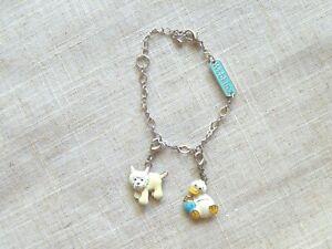 """Ganz WEBKINZ 7.5"""" Charm Bracelet with 2 Enamel Charms - Dog & Duck"""
