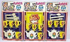 Dinner & Tea Set Kids Vintage Hong Kong Made Toys Lot Of 3