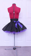 NEW HANDMADE GIRLS BLACK / PURPLE TUTU MINI SKIRT IRISH DANCE SCHOOL 10 - 12 YRS