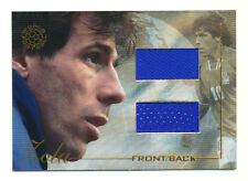 2004 FUTERA GIANFRANCO ZOLA DUAL GAME-USED JERSEY CHELSEA ITALY RARE #81/125