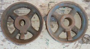 2 alte massive Eisenräder Eisen Gussrad Deko Loft Industrie shabby 2 Stück Loft