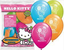 "New! (12ct) Disney Hello Kitty Birthday Latex Balloons Party Supplies 12"""