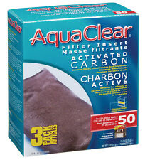 Aqua Clear 50 (200) Carbon Insert 3 Pack Filter Media A1384 Brand New!!!