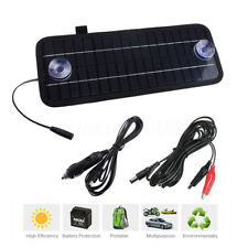 12V 4.5W Portable Solar Panel Power Battery Charger Backup for Car Auto Boat New
