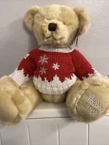 2008 Harrods Christmas Teddy Bear  - Collectable. With tags.