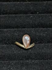 Vintage Sterling Silver 925 Pink mother Of Pearl Ring Size 6