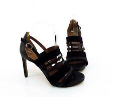 Sandaletten H&M Plateau Stilettos Kunstleder schwarz Gr. 38