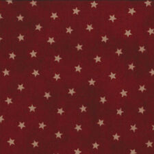 Primitive Gatherings Favs, Tiny Beige Stars, Dark Red, Moda 1074-21 (By 1/2 yd)