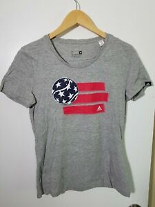 1 NWT ADIDAS WOMEN'S T-SHIRT, SIZE: SMALL, COLOR: GRAY HEATHER (J91)