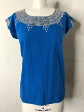 Vtg Ethnic Mexican Embroidered Frida Khalo Top S M