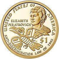 2020 S Proof Native American Dollars Native American $1 Elizebeth Peratrovich