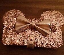 Disney Rose Gold Sequin Iphone Wallet Case
