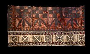 tapa cloth, painted beated bark, Futuna, traditional cloth