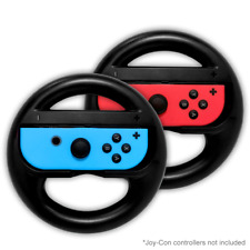 Mario Kart Steering Wheel for Nintendo Switch Joy-Con Black 2 Pack Racing Wheel