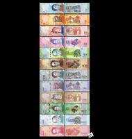 Venezuela 2-20000 Bolivares,Set of 12 PCS,Banknotes, 2007-2017 UNC