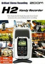 ENREGISTREUR ZOOM H2 HANDY PORTABLE STEREO RECORDER + carte SD 1GB