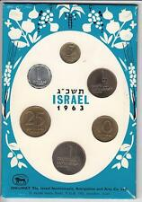 Coins of Israel 1963 Specimen set / Mint set by Isnumat, 6 coins, Rare