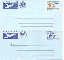 Botswana 1980-1981 Aerogrammes. set of two. Postally Unused