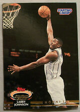 1993 Stadium Club Starting Lineup Larry Johnson Charlotte Hornets BasketballCard