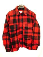 Vintage Filson Size 46 XL Red Black Plaid Mackinaw Cruiser Wool Coat Jacket USA